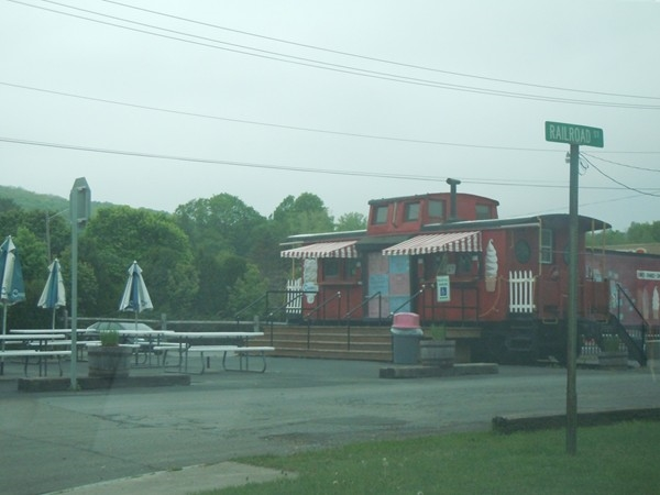 Ice Cream Shop converted from a Caboose - yum.  Village of Groton, NY