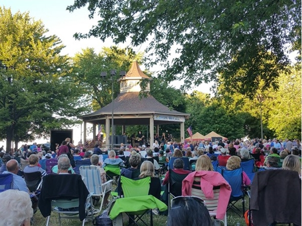 Concert by The Shore at Charlotte Beach featuring Brass Taxi