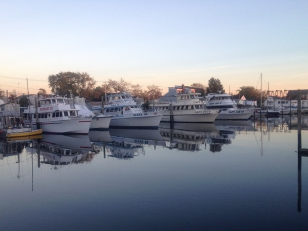 A serene view of the Nautical Mile, famous for charter boats, restaurants, and gifts
