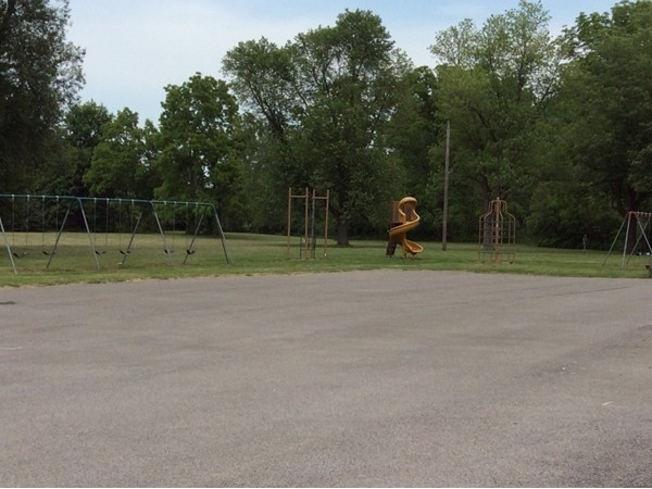 Playground next to picnic shelter on Bowen Rd