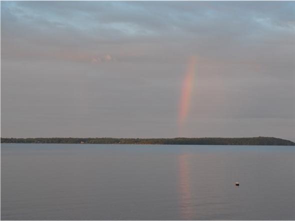 One of many rainbows captured over Lake Champlain