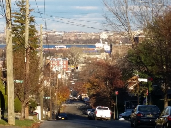 A fall sunny day on St.John Avenue in Staten Island