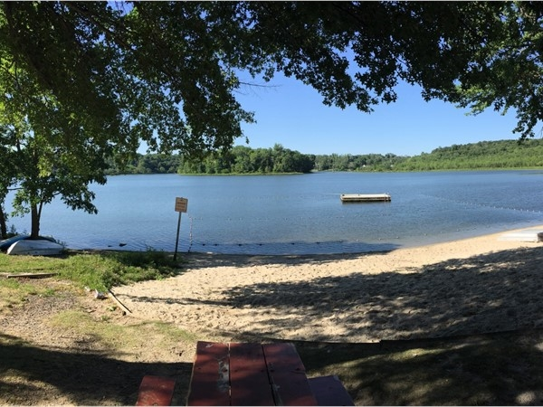Locals enjoy Round Lake in Monroe