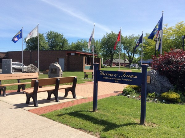 Walkway of Freedom, located next to West Seneca Town Hall and Library