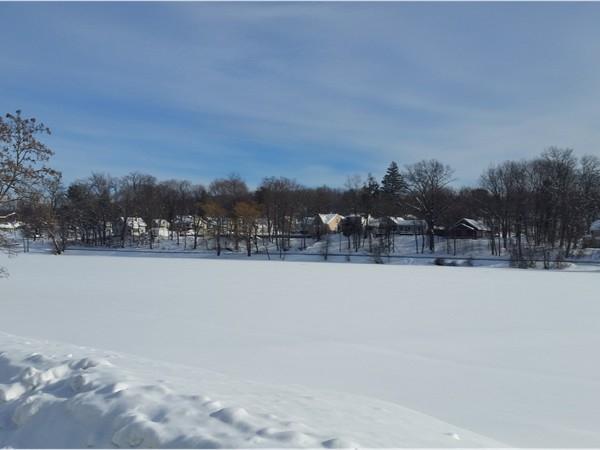 New snow on Hampton Lake. Beautiful in all seasons