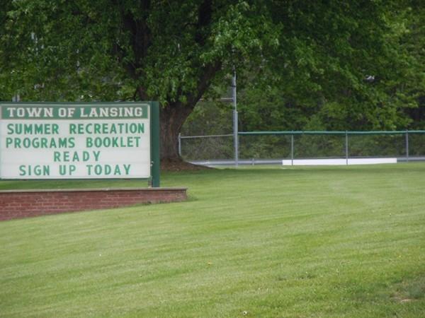 Ball field announcement board