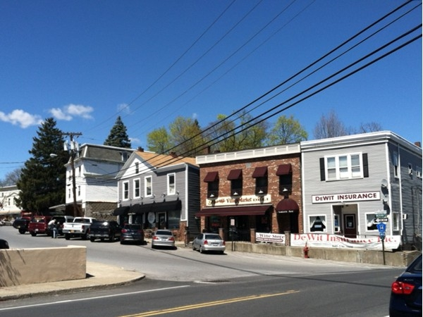 Marlboro's town center features local favorites like Frank's Deli and the Racoon Saloon