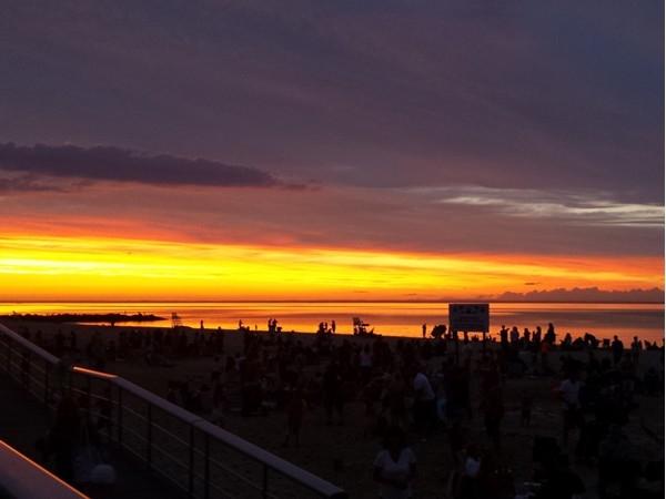 Sundown at Sunken Meadow Beach in Kings Park!