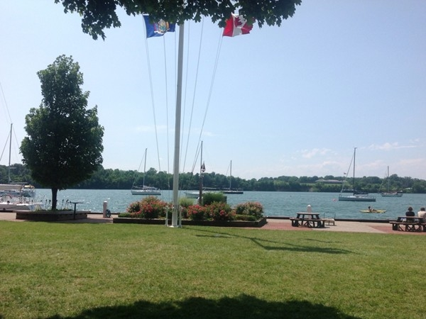 Sailing anyone? The view from The Youngstown Yacht Club. Serene and beckoning