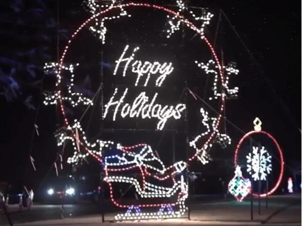 Holiday display at Magic of Lights