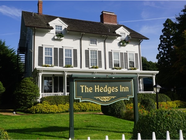 The Hedges Inn hotel on the Main Street of East Hampton Village