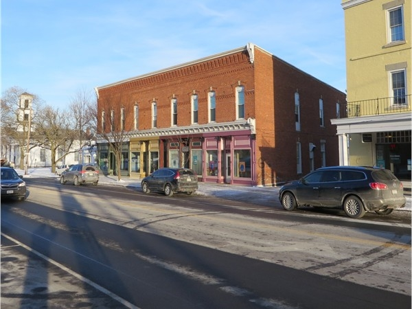 Red brick historic building in the Village of Honeoye Falls