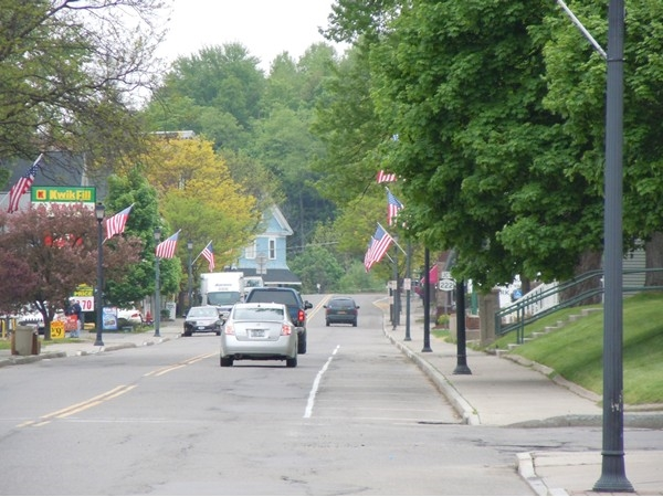 Groton Village decked out for Memorial Day.