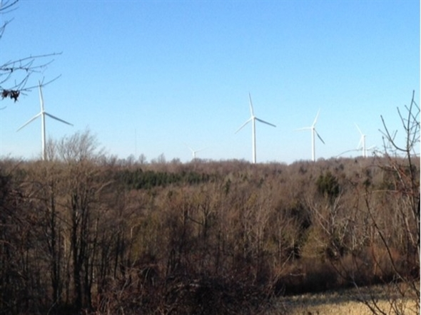 Fenner NY windmills on a cold December day