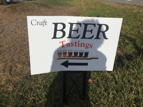 Beer tasting popping up along the wine trail. Yippeee!