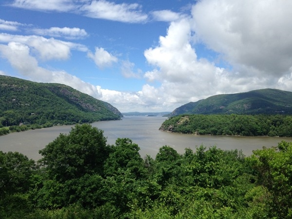 View from West Point Military Academy looking north at Cornwall on Hudson.