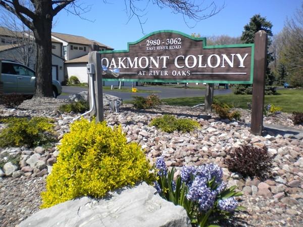 Oakmont Colony 2980- 3062 East River Rd, Grand Island. Across the street from River Oaks Marina