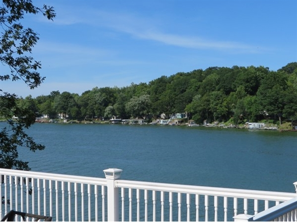 Beautiful view of the east side of Port Bay from the deck of this home on Tompkins Point Road