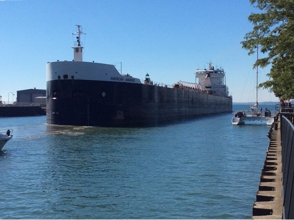 After a lunch at a Templeton's we watched a ship leaving Buffalo Harbor. Fascinating!