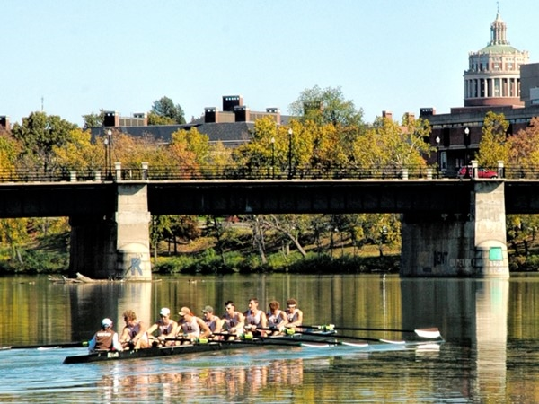 The U of R is a magnificent backdrop for water sport enthusiasts on the Genesee River