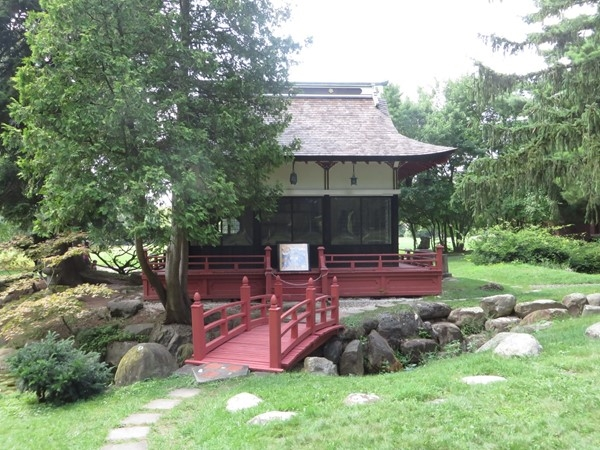 Tea House in the Japanese garden at Sonnenbery Gardens and Mansion