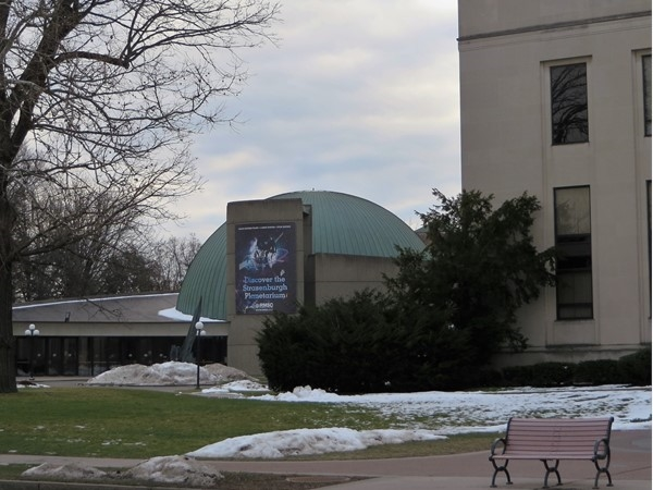 The Strasenburgh Planetarium next to the Rochester Museum and Science Center on East Avenue