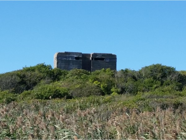 A Bunker built in WW 2 to protect from Germans. Shadmoor State Park. Montauk