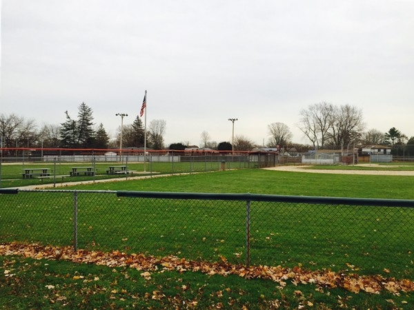 Baseball park in Deer Park with playgrounds