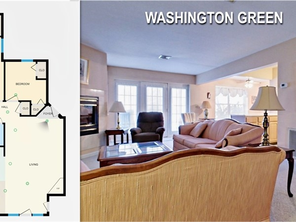 Typical floor plan of a ground floor unit in Washington Green