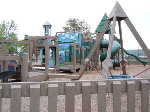 Community built playground at Myers Park