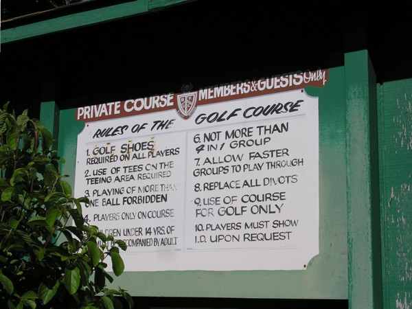 Rules of the Golf Course