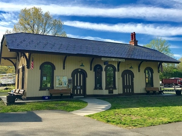 Beautifully restored old train station