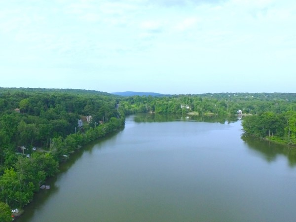 Beautiful view of Round Lake in Monroe