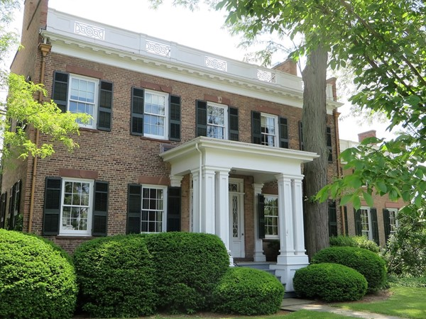 Stately brick Colonial on Gibson Street