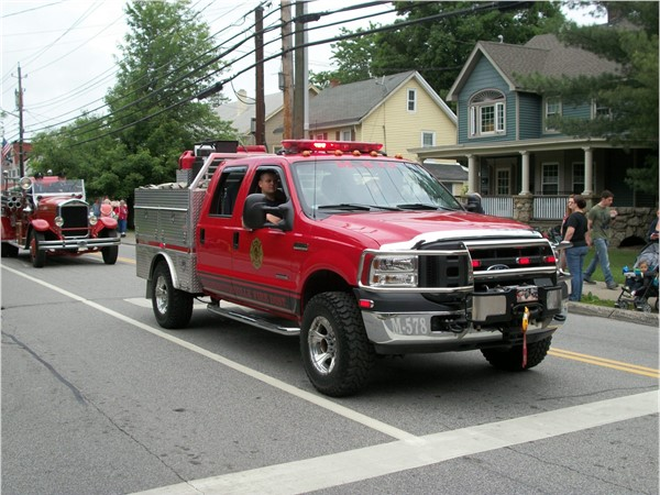 Spectators enjoyed the wide variety of fire apparatus in the 2016 Memorial Day Parade
