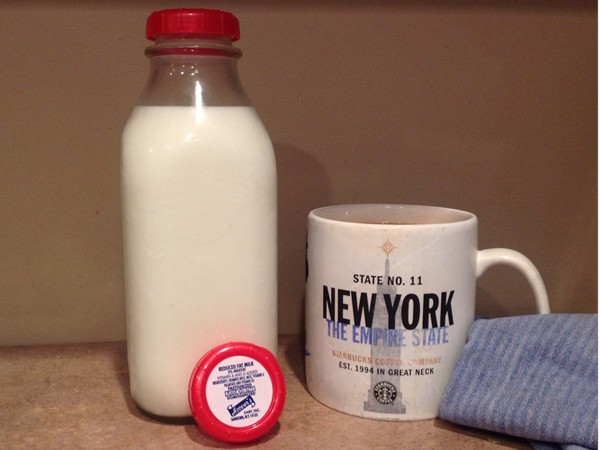 """Remember """"the milkman""""? Hoover's Dairy in Sanborn still doing home deliveries! Great morning coffee."""