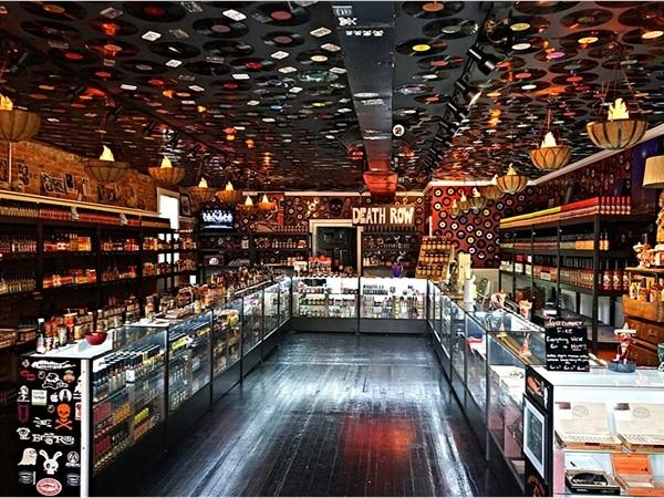 Inside of the Hot Sauce store, Main Street, Greenport
