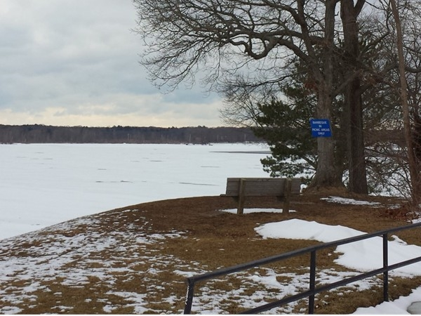 Looking east over Lake Ronkonkoma