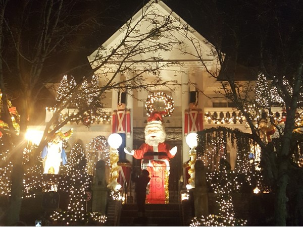 Christmas isn't that far off. Each year, this is one of the first houses ready for the season