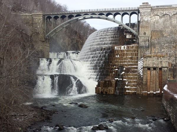 The Croton Dam -- always a sight to see, anytime of the year