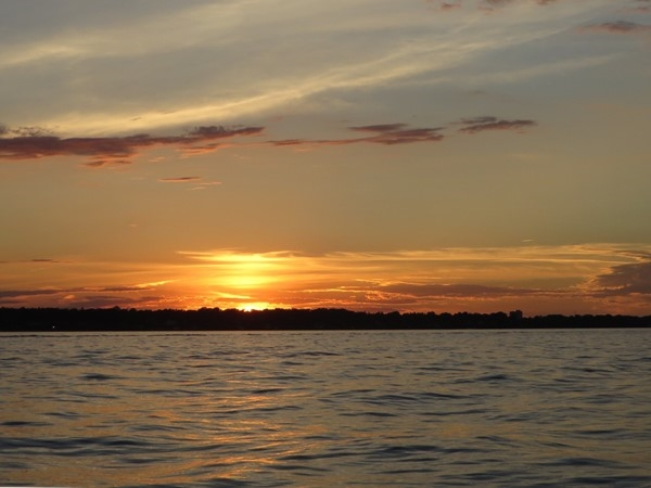 Sunset on Lake Ontario off the shore of Irondequoit on a September evening