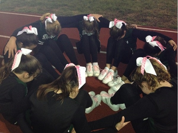 Cornwall Youth Cheerleaders supporting Breast Cancer Awareness Month