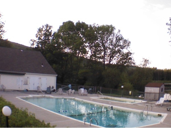 Clubhouse and pool at Windridge