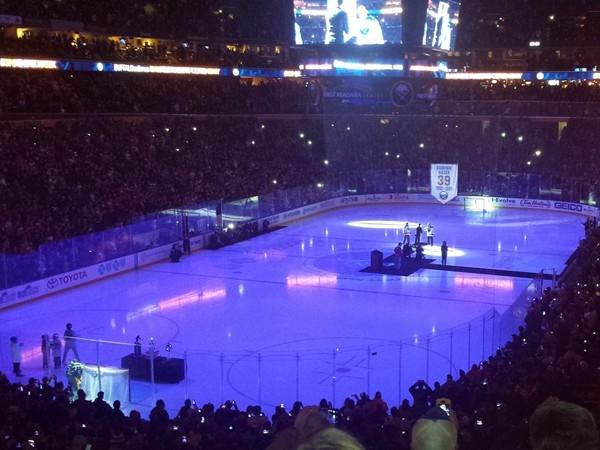 First Niagara Center the night  #39 was retired for Dominik Hašek