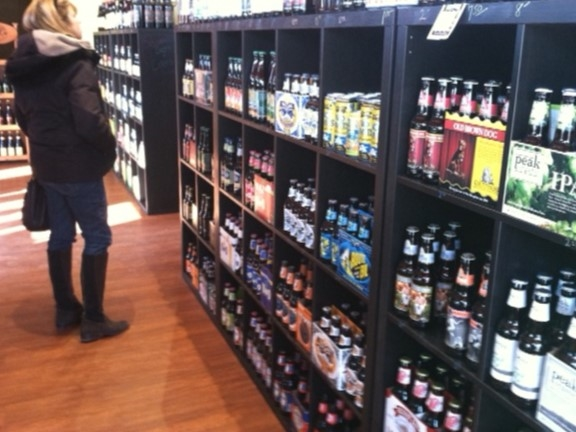 Beverage shopping at Warwick Craft Beer Cellar