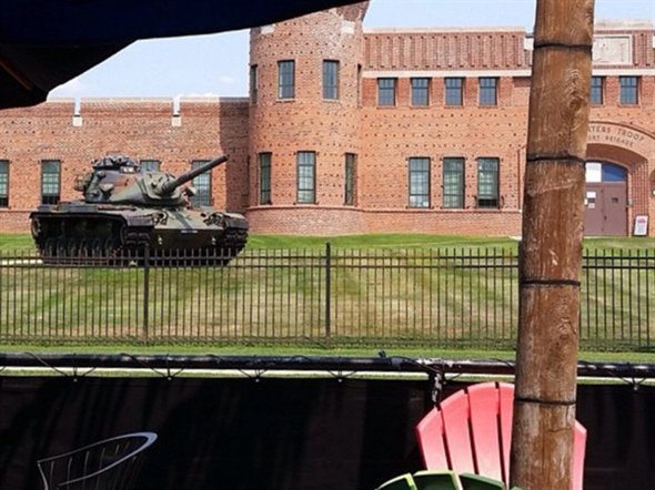 View of Manor Road Armory on the North Shore, Staten Island