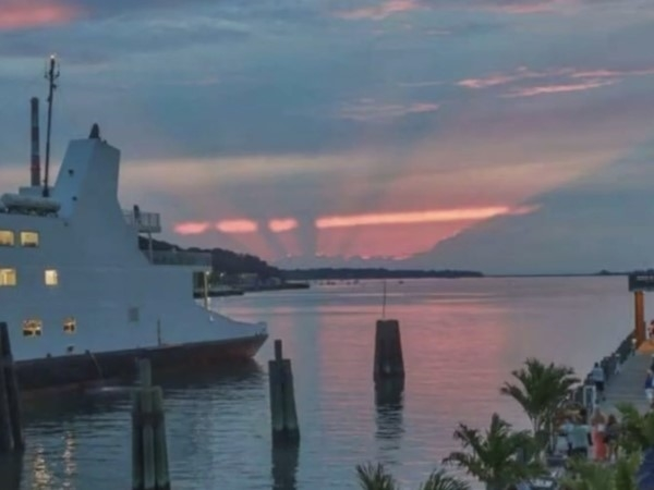Sunset at Port Jefferson Village, NY