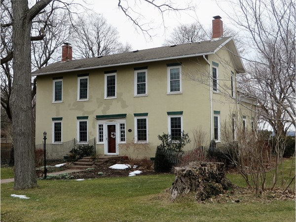 Historic colonial home on the hill south of Victor