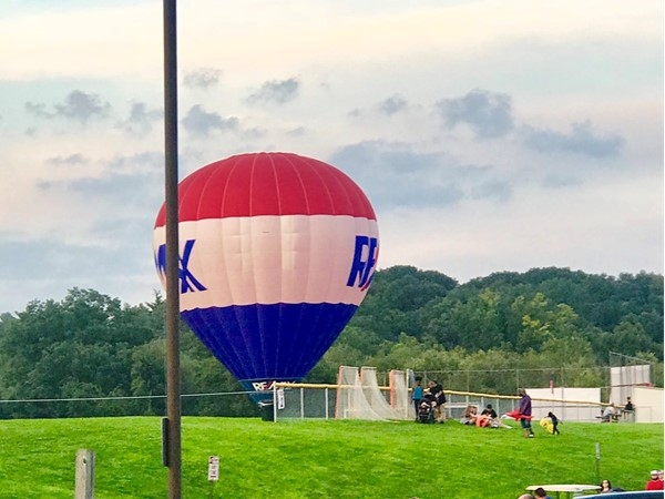New Windsor Community Day.  RE/MAX Balloon tethered rides on the field