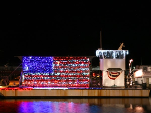 Christmas Holiday Parade of Boats in Patchogue